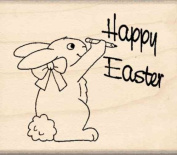 Happy Easter Rubber Stamp - 2.5cm - 1.9cm x 5.1cm