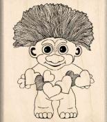 Troll Boy Rubber Stamp - 2.5cm - 1.9cm x 5.1cm