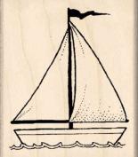 Sailboat Rubber Stamp - 2.5cm - 1.9cm x 5.1cm