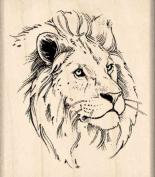 Lion Rubber Stamp - 2.5cm - 1.9cm x 5.1cm