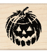 Inkadinkado Wood Mounted Rubber Stamp LL, Jack 'o Lantern