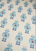 Robot Rolled Gift Wrap