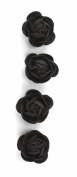 Jolee's Boutique Dimensional Stickers, Black Felt Rose