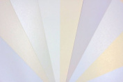 favourite PAPERS - Shimmer White & Natural - 8.5 x 11 - **SAMPLER PACK**