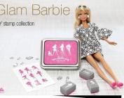 9 Kinds Korea DIY Woodiness Rubber Stamp- Tin Box Set -Barbie