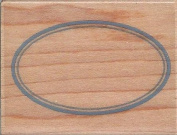 Classic Oval Label Wood Mounted Rubber Stamp