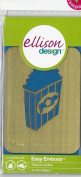Ellison Design Easy Emboss Stencil - Popcorn with Box