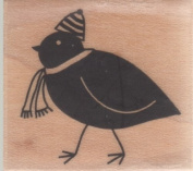 Holiday Bird Wood Mounted Rubber Stamp