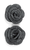 Jolee's Boutique Dimensional Stickers, Black and White Crochet Flowers