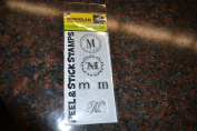 "psa essentials monogram peel & stick stamps ""m"""