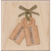 Treasured Memories Wood Mounted Rubber Stamp