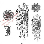 Something Tattered Clear Stamps, 10cm by 10cm , Monogram Initial J