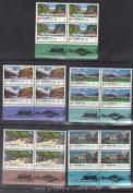 Taiwan Stamps : 1993 Yangtze River, Scott # 2896-2900 block of 4 complete sets, MNH-VF, flesh dealer stocks
