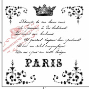Something Tattered French Script Poem Clear Stamps, 10cm by 10cm