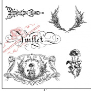 Something Tattered July Juillet French Month Clear Stamps, 10cm by 10cm