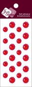 Zva Creative CRW-06CA-151 Crystal Sticker, Red Flower Accents