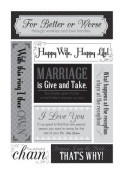 Momenta Sassy Marriage Sticker Embossed Cardstock