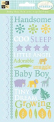 Diecuts With A View Glitter Rub-Ons, Nana's Nursery Baby Boy Glitter