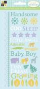 Diecuts With A View Glitter Rub-Ons, Nana's Nursery Baby Boy Glitter