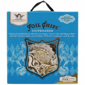 Foil Chips Self-Adhesive Chipboard 19/Pkg-Rockin' Renaissance - Royalty