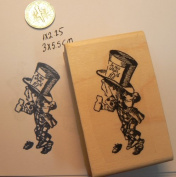 Alice in Wonderland's Mad Hatter Rubber Stamp WM P13