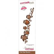 CottageCutz Elites Die 13cm x 2.8cm -Fall Owl Border