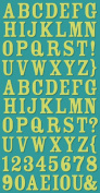 Cosmo Cricket Lime Rickey Ready Set Chipboard Stickers, 15cm -by-30cm