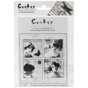 Crafty Individuals Unmounted Rubber Stamp 12cm x 18cm Pkg-Love Letter Ladies