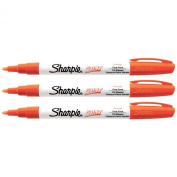Sharpie Oil-Based Paint Marker, Fine Point, Pack of 3