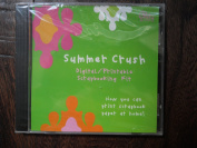 Summer Crush Digital/printable Scrapbooking Kit Cd