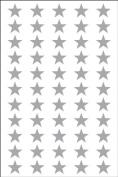 Ace Label 6011AL Teacher Star School Stickers, 1.3cm , Silver, 8 Sheets