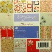 GCD Studios Kathy Davis Ambrosia 15cm x 15cm Cardstock, 48 Sheets