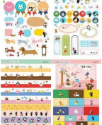 . 8 Sheets Korea DIY Kawaii Diary PrettyZoo Animals Sticker Set - Deco Translucent Sticker Set