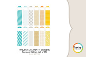 Project Life by Becky Higgins Month Dividers - Seafoam Edition