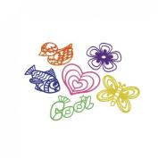 Set Of 24 Assorted Plastic Mini Stencils