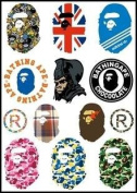Bape Logo Skateboard Vinyl Sticker Laptop Luggage Car Bumper Decals