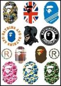 Bape Logo Skateboard Vinyl Sticker Laptop Luggage Car Bumper Decals