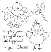 Inky Antics Clear Stamp Set, Flower Chick
