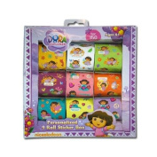 150pc Nick Jr. Licenced Dora the Explorer 9 Roll Art Kids Sticker Box Set