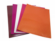 DCWV Adhesive Glitter Cardstock Paper (Multi-Coloured), 20 Sheets of 22cm x 28cm Paper