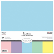 The Paper Company, P61902R, Pastel Cardstock Starter Pack, 12 by 12