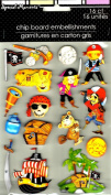 PIRATE CHIP BOARD DEMENSIONAL STICKERS