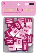 Tailored Letter Tabs Pink