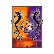 Tao Dragon with Yin Yang Symbol Decorative Sticker Decal By Mikio Kennedy