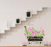 Toprate(TM)Pink Flowers Car Wall Sticker Decals PVC Removable Wall Decal For Nursery Girls and Boys Children's Bedroom