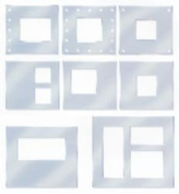 Westrim Paper Bliss Accents - Acrylic Frames Assorted 8 Pieces