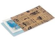 50 Vintage Printed Paper Kraft Bags 15cm x 20cm