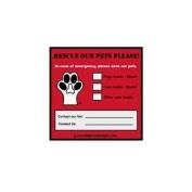 Pet Emergency Rescue Window Cling - Set of 2