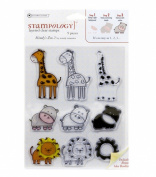 Autumn Leaves Stampology Clear Stamps Full Sheet, Mindy's Zoo 2