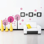 Toprate(TM)Pink Pandora Tree,Quote My love grow more with the passing time,Wallpaper Wall Sticker Decals PVC Vinly Removable DIY Wall Decal For Room Living Room